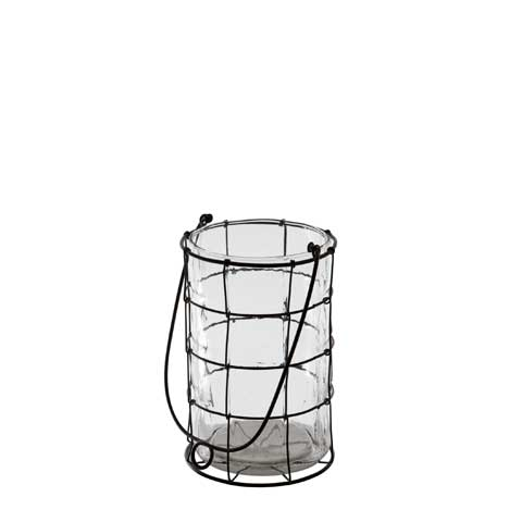 Wire & Glass Lantern