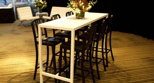 Features: Bench Bars & Navy Stools