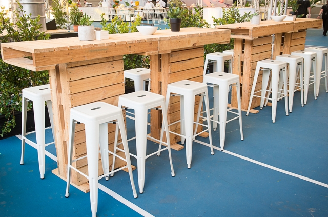 Features: Pallet Collection, Tolix Stools