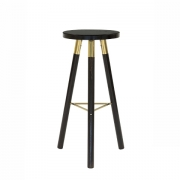Scandi Blackwash Bar Stool