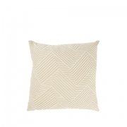 Creme Patterned Cushion