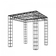 Wire Pergola with Roof Frames